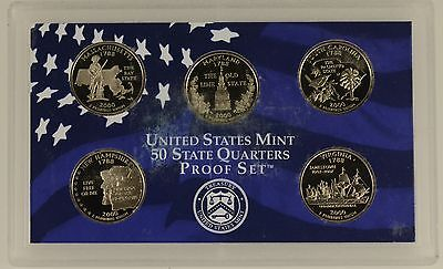 USA 2000 s 5 COIN 50 STATE QUARTER PROOF YEAR SET  - sealed