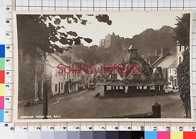 Dunster from The Ball vintage postcard real photo