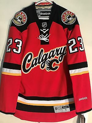 NHL Calgary Flames Sean Monahan Premier Ice Hockey Shirt Jersey