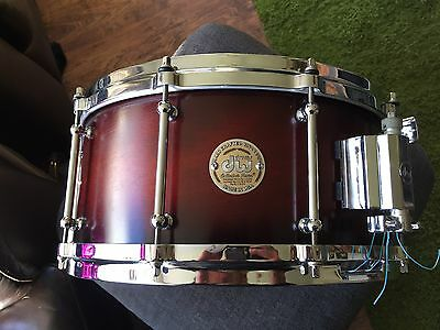 DW Collectors Solid Shell 14X6.5 Snare Drum. Cherry To Black Fade.