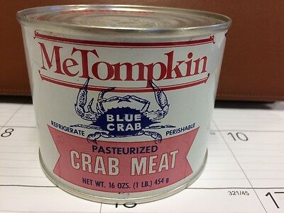 MeTompkin Crisfield Maryland Crab Meat Tin Can Not Oyster 1LB