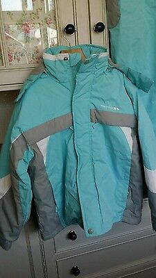 tresspass girls ski jacket and salopets age 7 - 8
