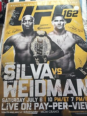 UFC 162 SIGNED POSTER 52 of 125