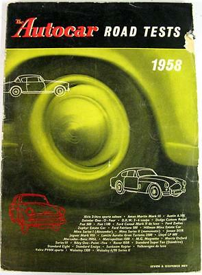 Autocar Road Tests Spring 1958 FORD, STANDARD, WOLSELEY, FIAT, HILLMAN etc