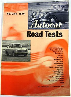 Autocar Road Tests Autumn 1960 FORD, LANCIA, CITREON, ROLLS ROYCE, RILEY etc