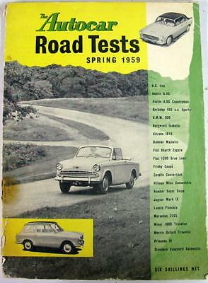 Autocar Road Tests Spring 1959 AUSTIN, FIAT, HILLMAN, MINOR, MORRIS etc