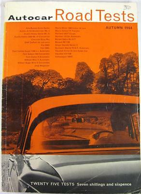 Autocar Road Tests Autumn 1964 ALFA ROMEO, AUSTIN, FIAT, FORD, MORRIS, etc