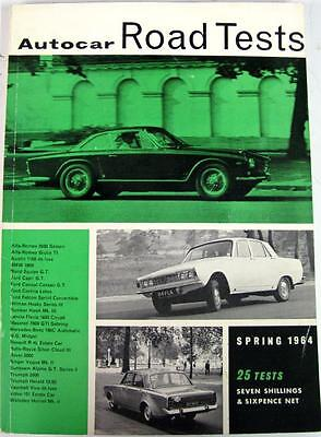 Autocar Road Tests Spring 1964 ALFA ROMEO, FORD, HUMBER, TRIUMPH etc