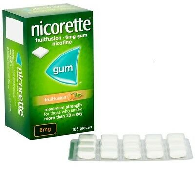 Nicorette Gum Fruit 6 Mg ,105 Pieces