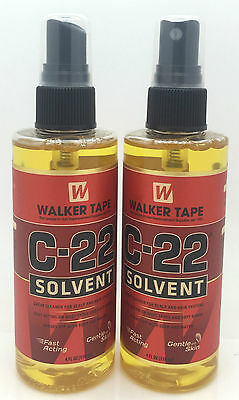 2 x Walker Tape C-22 Solvent Wig Adhesive Remover 4fl oz Hair Replacement System