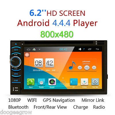 "6.2"" 2 Din Coche DVD Reproductor GPS Navigación Android Quad Core Bluetooth WIFI"