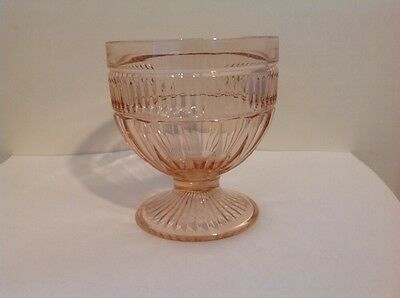 "Annapolis Pink Glass ""Rosewater"" 4"" Tall Ice Cream/Sherbert Anchor Hocking Dish"