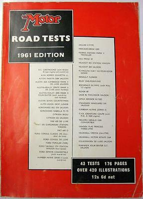 THE MOTOR Road Tests of 1961 Cars AUSTIN, BORGWARD, FORD, PEUGEOT, VAUXHALL etc