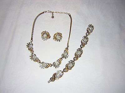 Absolutely Stunning  Alfred Philippe Crown Trifari Necklace/bracelet/earrings