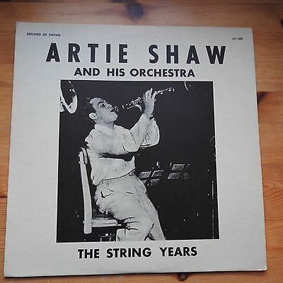 Artie Shaw and his Orchestra - The String Years LP vinyl Ex/VG+