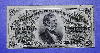 25 Cent Fractional Currency Third Issue Green Back XF