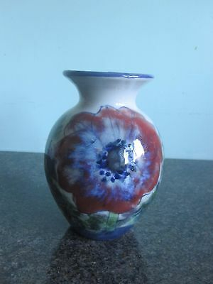 Highland Stoneware - Vase - Hand Painted - Poppies