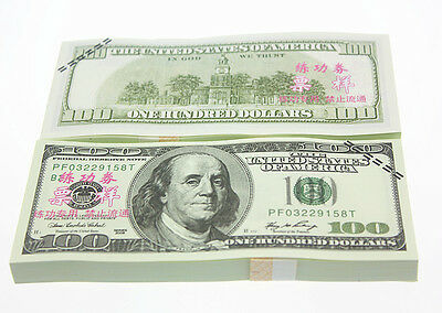 New 100pcs/lot $100 Dollars Bank USA Money Training Collect Learning Banknotes