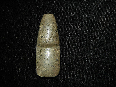 Pre-Columbian Avian Axe God Pendant, Authentic, Central America