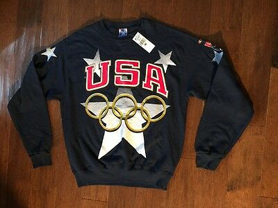 Champion United States USA Olympic GOLD Rings Sweatshirt Men's Size Large NWT