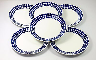 6 pieces of Gustavsbergs ADAM by Stig Lindberg Cake Plates Sweden Midcentury