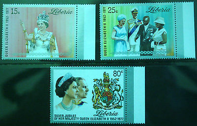Liberia 1977. Silver Jubilee. Set of 3. S.G.1320-1322. Unmounted Mint.