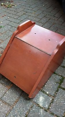 Vintage retro solid wood coal skuttle box. Ideal for shabby chic project