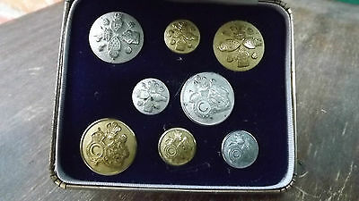 Set of 8 Gold & Silver Buttons1981 Princess Diana & Prince Charles Wedding