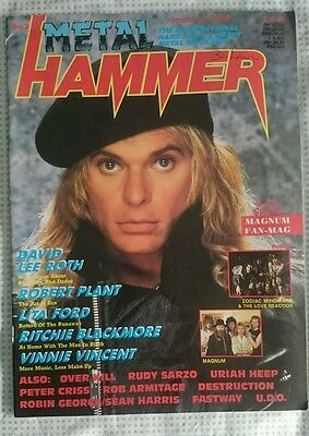 Metal Hammer Uk N° 3 1988 Magazine D. Lee Roth Lita Ford R. Blackmore  Magnum F