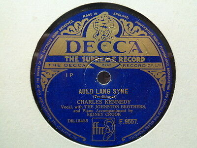 CHARLES KENNEDY - Auld Lang Syne / A Guid New Year 78 rpm disc (A++)