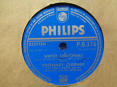 ROSEMARY CLOONEY - White Christmas / While You're Dancing 78 rpm disc (A++)
