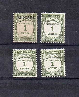Lot timbres taxe d'Andorre neuf**
