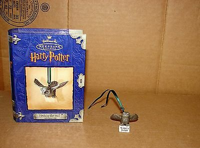 2000 used Hallmark Harry Potter Hedwig The Owl Pewter Ornament