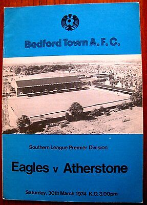 Bedford Town v Atherstone 1973/74 Southern League programme.