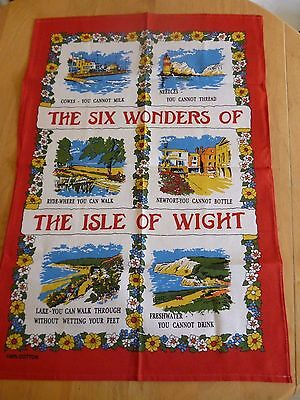 The Six Wonders Of The Isle Of Wight Tea Towel