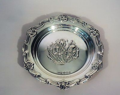 ANTIQUE SOLID SILVER PIN DISH - 1904 (32g)
