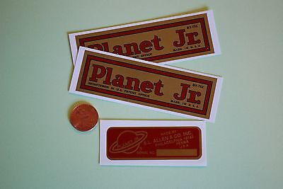Planet Jr. Decal for small hand tools and plows; 25 Imp