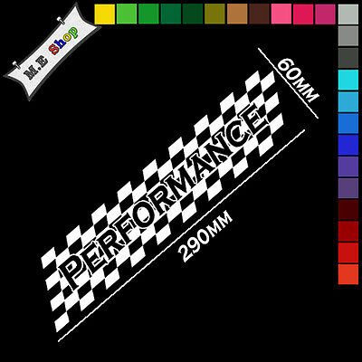 White Large Racing Flag Performance Windows Side Bumper Sticker Decal