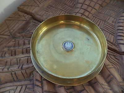 German Trench Art Trinket Bowl With An German One Mark Empire Coin