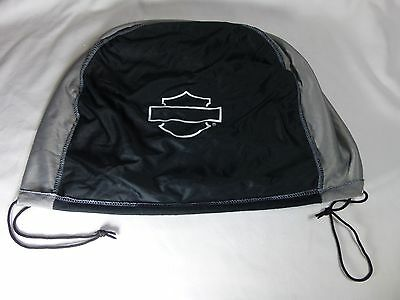 Harley Davidson Black and Gray Draw String Helmet Bag Mildly Used Nice Condition
