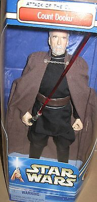 "Universal Monsters-Star Wars-Count Dooku-Christopher Lee-12"" Figure-Mib-Sealed"