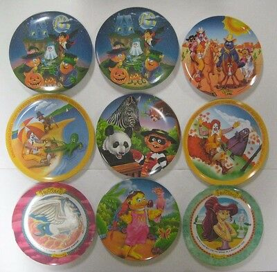Vtg 1977-1997 Lot Ronald McDonald's Plates Melamine Four Seasons Hercules Friend