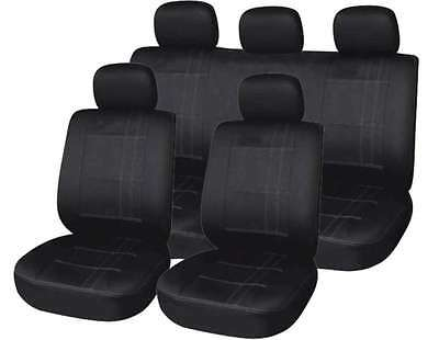 Maidstone Black + Grey Pin Stripe Full Set Of Seat Covers For Opel Vectra C GTS