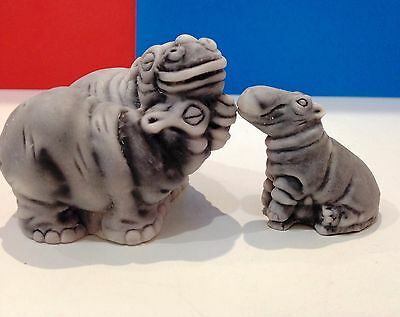 Hippos marble chips figurines realistic Souvenirs from Russia handmade