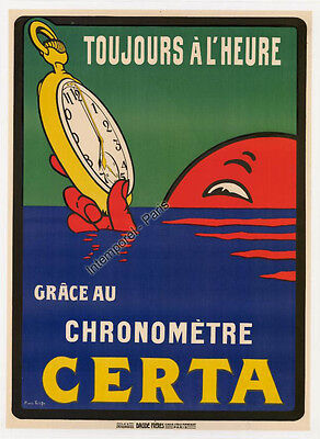 Affiche Originale Chronometre Certa