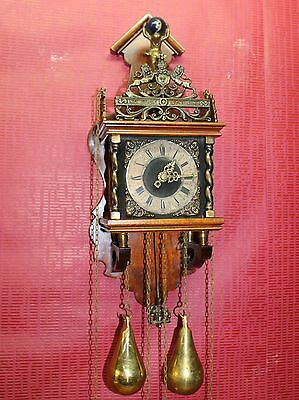 Old Wall Clock Dutch Zaandam Zaanse wall Clock Orologio Reloj Uhr WARMINK WUBA