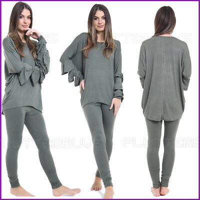 Two Peice LoungeWear TrackSuit Top Leggings Co-Ord Set Womens Ladies Size New ❤