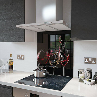 3 Glasses Of Wine Toughened Glass Splashback - Various Sizes Resistant to 500°C