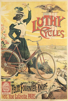 Affiche Originale Luthy Cycles