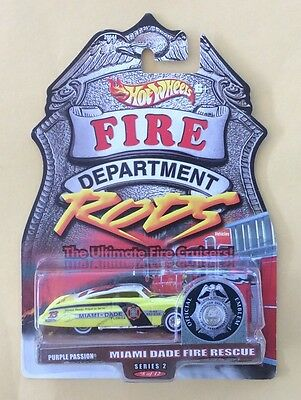 2000 Mattel Hot Wheels Fire Department Rods Miami Dade Fire Rescue Series 2